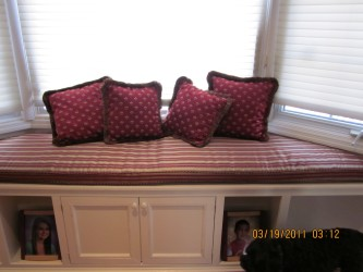 Red Bay Window Seat Cushions Covers