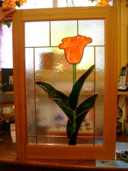 Stained Glass Kitchen Cabinet