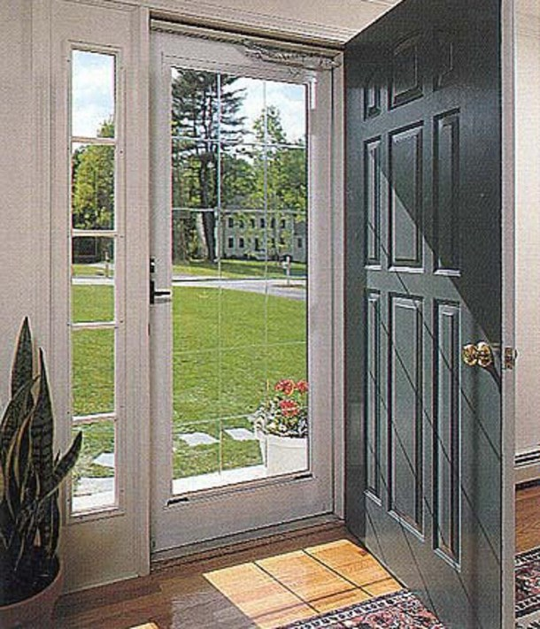 Storm doors spotlats for Interior screen door