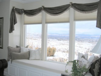 White Bay Window Seat Cushions Covers