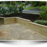 Charming  railroad tie retaining wall  product Image