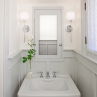 Charming wainscoting in bathroom