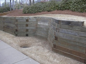How To Landscape Timbers For Retaining Wall