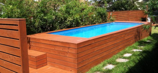 Gorgeous how to landscape backyard pool on budget spotlats for Above ground fiberglass pools