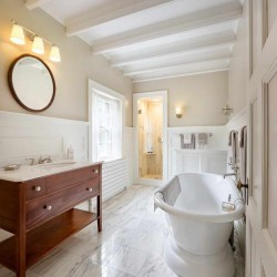 Gorgeous How To End Wainscoting In Bathroom Sink