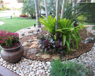 Landscape With Rock Garden Design Ideas