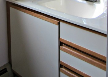 How To Turn White Laminate Kitchen Cabinet With Black