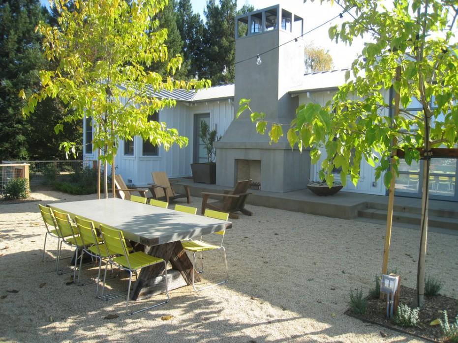 Pea Gravel Landscaping Ideas For Landscape Midcentury Design Ideas