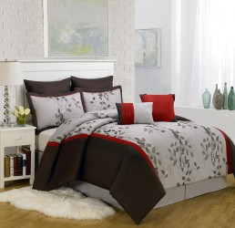 Piece King Brookfield Embroidered Comforter Set