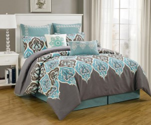 Piece King Monte Carlo Bedding Comforter Set