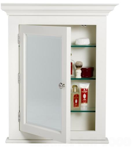 Recessed Medicine Cabinet With Mirror White