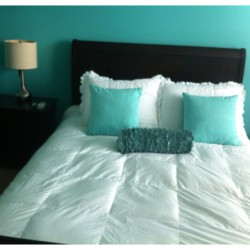 Tiffany Blue And White Bedroom
