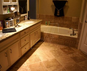 Travertine Bathroom Floor Tile Designs