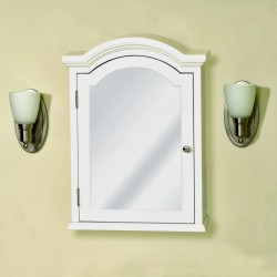 White Recessed Medicine Cabinet With Mirror