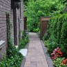 576x867px How To Makeover Narrow Side Yard Into Strip Garden Or Pathway Picture in landscape