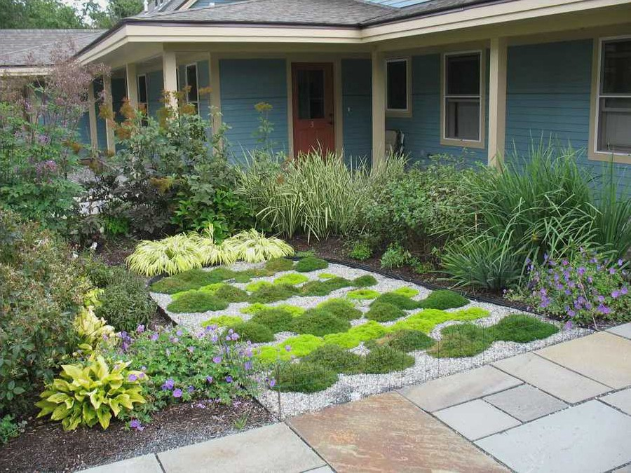 how to landscape front yard on busy street