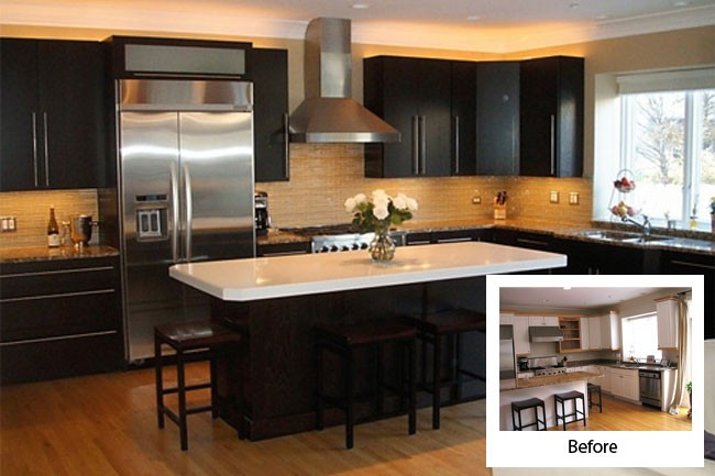 Kitchen Cabinet Refacing Before And After Decorating Ideas Kitchen