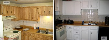 Painting Kitchen Cabinets Before And After Wallpaper Painted Kitchen