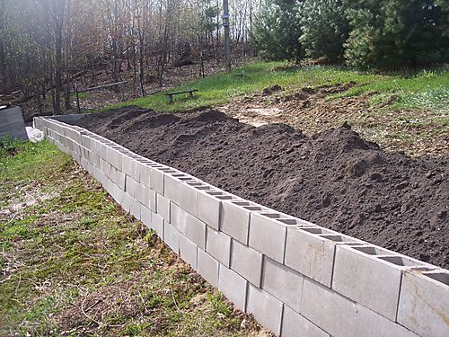 How to build inexpensive retaining walls spotlats for Cheapest way to build a building