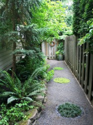 Side Yard Landscaping Narrow Side Yard Design Ideas Pictures
