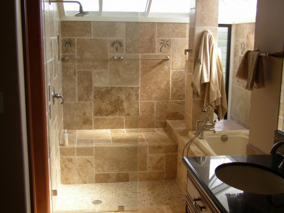 Attrayant Ideas Of Using Travertine In Small Bathroom