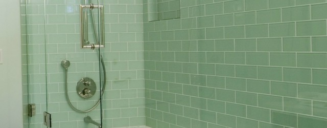 subway tile in bathroom product Image