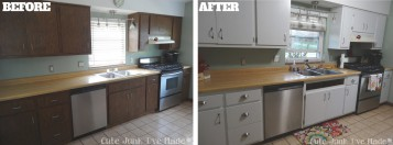 How To Turn White Laminate Kitchen Cabinet With Black Paint