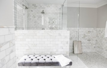 White Subway Tile Bathrooms  Collection