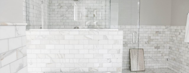 white subway tile bathrooms  Collection